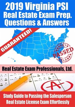 2019 Virginia PSI Real Estate Exam Prep Questions, Answers & Explanations: Study Guide to Passing the Salesperson Real Estate License Exam Effortlessly (eBook, ePUB) - Ltd., Real Estate Exam Professionals