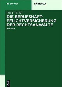Die Berufshaftpflichtversicherung der Rechtsanwälte (eBook, PDF) - Riechert, Stefan