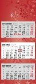 3-Monatskalender 2020 faltbar, Flower-Design