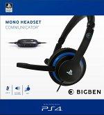 BigBen MONO HEADSET COMMUNICATOR für PS4 und PC, Kopfhörer, schwarz/blau