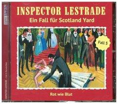 Inspector Lestrade - Rot wie Blut, 1 Audio-CD
