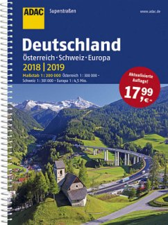 ADAC Superstraßen Deutschland, Österreich, Schweiz & Europa 2018/2019 1:200 000 (Mängelexemplar)