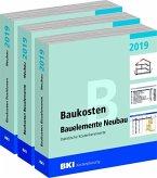 BKI Baukosten Gebäude, Positionen und Bauelemente Neubau 2019 - Teil 1-3