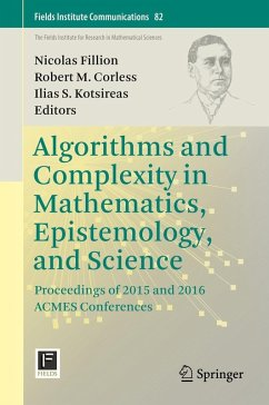 Algorithms and Complexity in Mathematics, Epistemology, and Science (eBook, PDF)