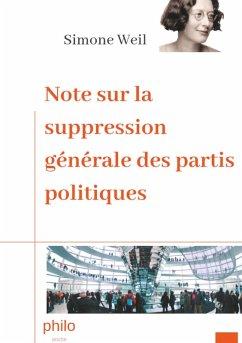 Note sur la suppression générale des partis politiques (eBook, ePUB)