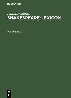 Shakespeare-Lexicon (eBook, PDF) - Schmidt, Alexander