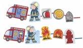 HABA 304652 - Fädelspiel Feuerwehr, Lernspiel, Motorikspielzeug