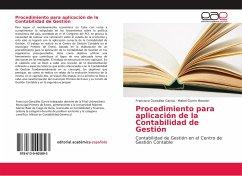 Procedimiento para aplicación de la Contabilidad de Gestión