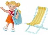 HABA 304745 - Little Friends, Tina, Spielfigur, Puppe, Biegepuppe