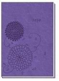 Taschenkalender 2020 A6 Soft Touch Violett