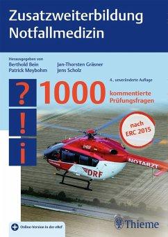 Zusatzweiterbildung Notfallmedizin (eBook, PDF)