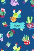 Cactus Journal with Watercolor Design: 6 X 9 - 108 Blank Journal Pages (Diary, Notebook, Composition Book, Writing Tablet)