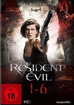Resident Evil - 1-6 DVD-Box - Milla Jovovich,Michelle Rodriguez,Eric Mabius