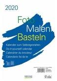 Foto-Malen-Basteln Bastelkalender A4 weiß 2020