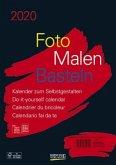 Foto-Malen-Basteln Bastelkalender A4 schwarz 2020