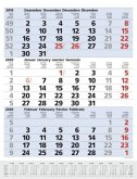 3-Monats-Planer Comfort Blau 2020