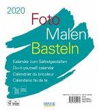 Foto-Malen-Basteln Bastelkalender weiß 2020