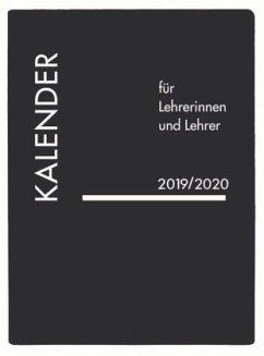 Lehrerkalender PVC schwarz 2019/2020