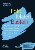 Foto-Malen-Basteln Bastelkalender A5 schwarz 2020