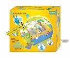 Noris 606031719 - Kikaninchen, Dein XXL Geburtstagspuzzle, XXL Riesenpuzzle, 45 Teile