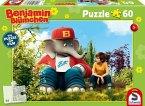 Schmidt 56278 - Benjamin Blümchen, Benjamin und Otto, Puzzle, 60 Teile