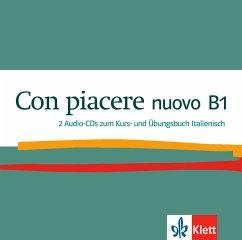 2 Audio-CDs zum Kurs- und Übungsbuch Italienisch / Con piacere nuovo .B1