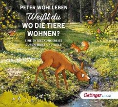 Weißt du, wo die Tiere wohnen?, 2 Audio-CDs - Wohlleben, Peter