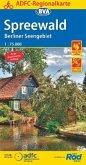 ADFC-Regionalkarte Spreewald /Berliner Seengebiet mit Tagestouren-Vorschlägen, 1:75.000, reiß- und wetterfest, GPS-Track