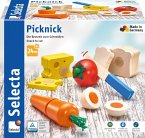 Selecta 62020 - Picknick, Motorikspielzeug, Holz, 13-teilig