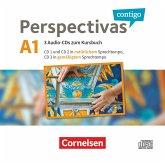 Perspectivas contigo - Spanisch für Erwachsene - A1, 3 Audio-CDs