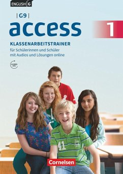 English G Access - G9 - Band 1: 5. Schuljahr - Klassenarbeitstrainer mit Audios und Lösungen online - Schweitzer, Bärbel