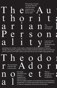 The Authoritarian Personality - Adorno, Theodor