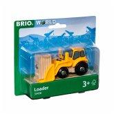 BRIO® 33436 - Frontlader Brio Holzeisenbahn, Fahrzeug, Radlader, Baufahrzeug