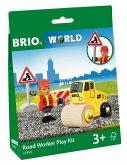 BRIO® 33899 - Straßenbaustelle, Bauarbeiten, Dampfwalze