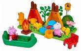 BIG 800057143 - PlayBIG Bloxx, Peppa Pig, Peppa Wutz, Camping Set, großer Bausteinplatte, kompatibel mit bekannten Bausteinen