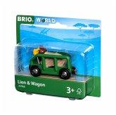 BRIO® 33966 - Tierwaggon Löwe, grün, Eisenbahn