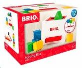 BRIO® 30250 - Weiße Sortierbox, Lernspielzeug, Farben und Formen