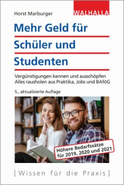 Mehr Geld für Schüler und Studenten - Marburger, Horst