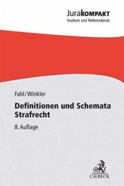 Definitionen und Schemata Strafrecht - Fahl, Christian; Winkler, Klaus