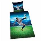 Herding Fußball Bettwäsche-Set, Wendemotiv, Bettbezug 135 x 200 cm, Kopfkissenbezug 80 x 80 cm