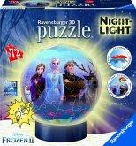 Ravensburger 11141 - Disney Frozen II, 3D-Puzzleball mit Nachtlicht, Die Eiskönigin, 72 Teile