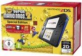 Nintendo 2DS schwarz-blau inkl. New Super Mario Bros. 2