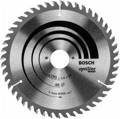 Bosch Kreissägeblatt Optiline Holz 190 x 30 48D