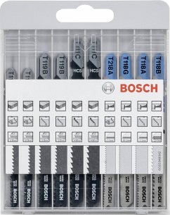 Bosch 10tlg. Stichsägeblatt-Set basic für Metall und Holz