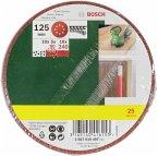 Bosch 25 Schleifblätter für Exzenterschleifer 125mm