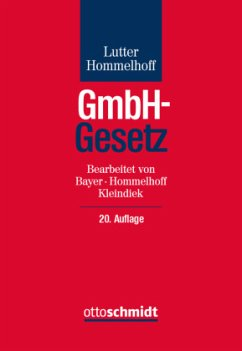 GmbH-Gesetz - Lutter, Marcus; Hommelhoff, Peter