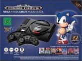SEGA Mega Drive Flashback 8 HD, Retro-Konsole mit 82 Classic-Games und 2 Controller, schwarz