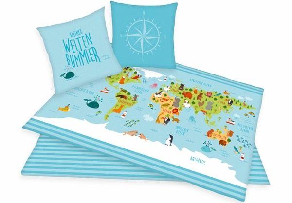 Weltkarte Bettwäsche Portofrei Bei Bücherde