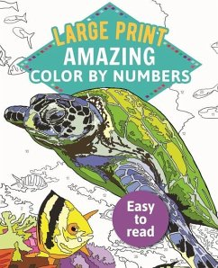 Amazing Color-By-Numbers Large Print: Large Print