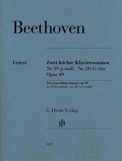 Zwei leichte Klaviersonaten Nr. 19 und 20 op. 49 - Beethoven, Ludwig van - Zwei leichte Klaviersonaten Nr. 19 und Nr. 20 g-moll und G-dur op. 49 Nr. 1 und Nr. 2